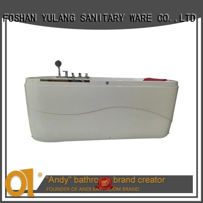 ANDI home used rectangular corner bathtub at discount for home