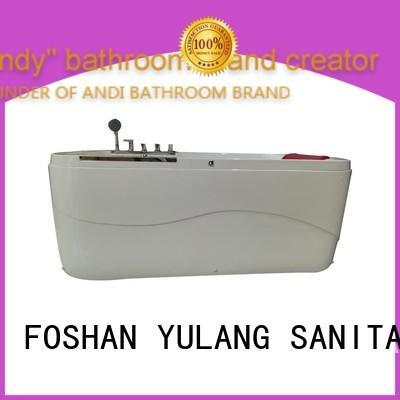 bubble rectangular drop in tub factory price for hotel ANDI