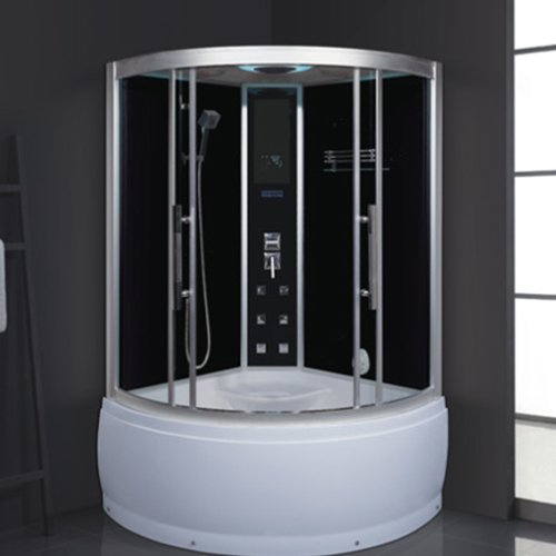 ANDI AD-1904 Modern Design Glass Sauna Bath Shower Room with Whirlpool Tub Steam or Sauna  Room image38