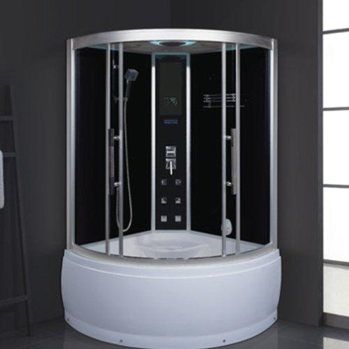 AD-1904 Modern Design Glass Sauna Bath Shower Room with Whirlpool Tub