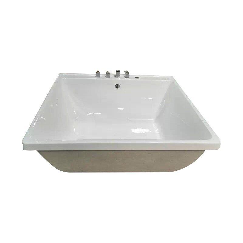 AD-6601 Square Soaking Function Bathtub Freestanding Installation Type Acrylic Bathtub With Massage