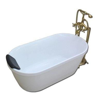 AD-6615 Cheap White Acrylic Soaking Hot Tub Freestanding Small Bathtub With 4 Sizes For Baby