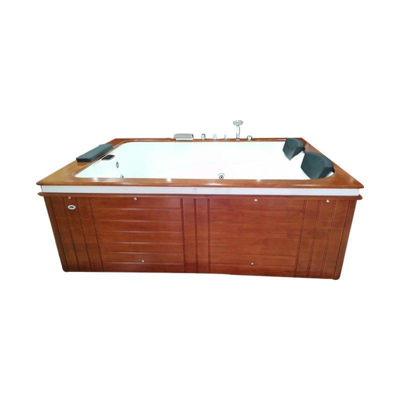AD-601 Wood Skirt Hydromassage Bath Tub Whirlpool Massage Garden Outdoor Spa Bathtubs