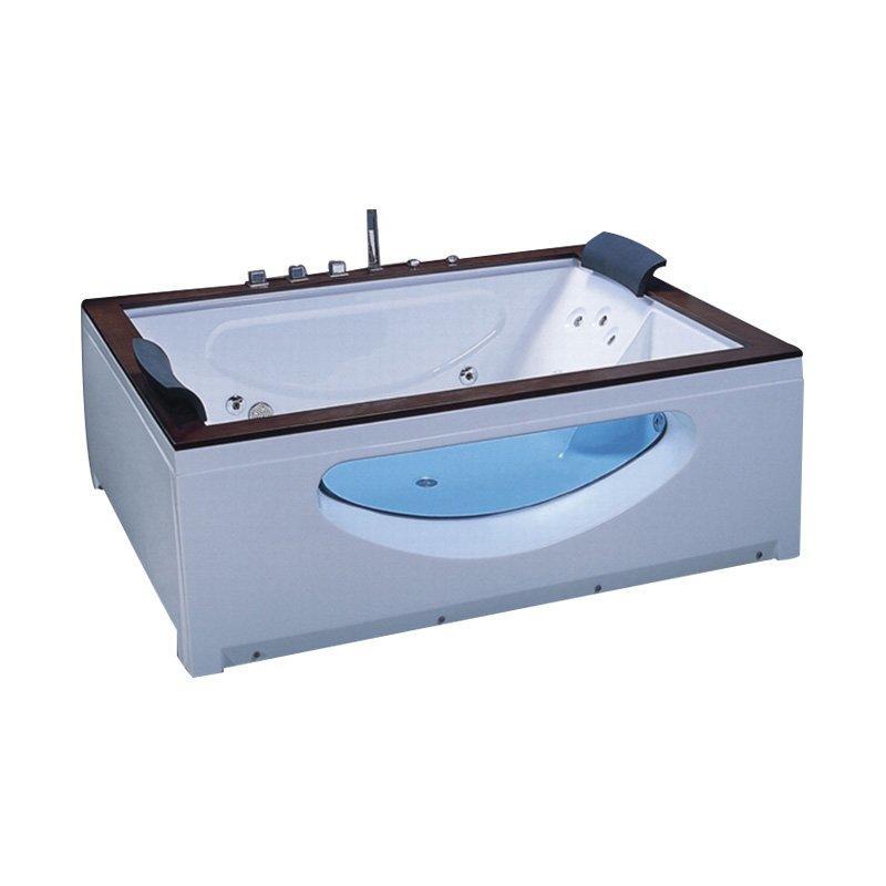 Factory Price Whirlpool Massage Bathtub with Oak Wood