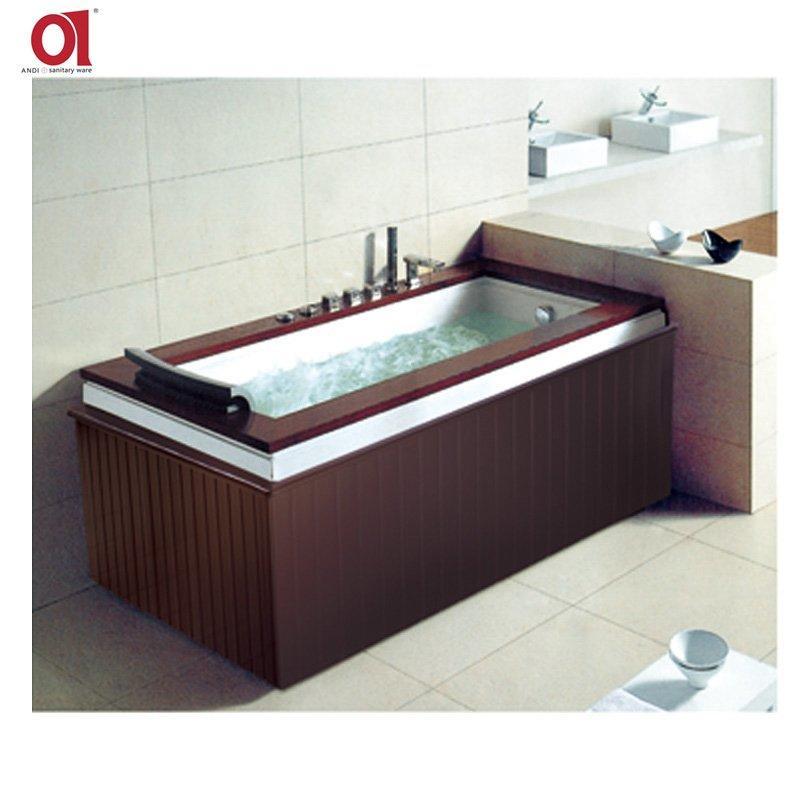 AD-847 Acrylic Wooden Whirlpool Bathtub/Luxury Bath Tubs/2 Person Indoor Spa Bathtub