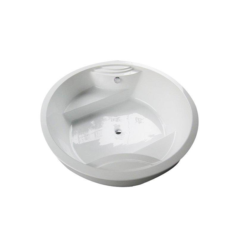AD-709 Freestanding Round Whirlpool Massage Bathtub