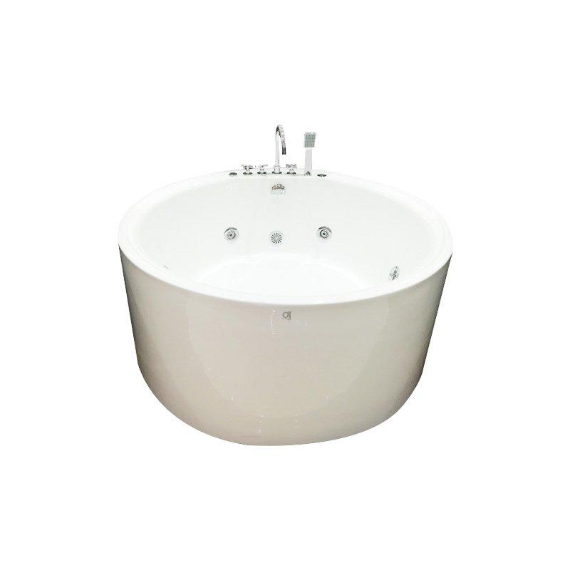 AD-713 Freestanding Round Whirlpool Massage Bathtub