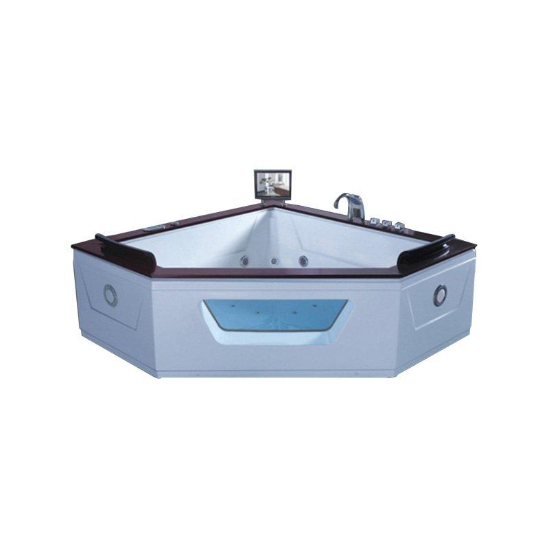 Factory Price Whirlpool Massage Bathtub With TV Wood Bath Tub