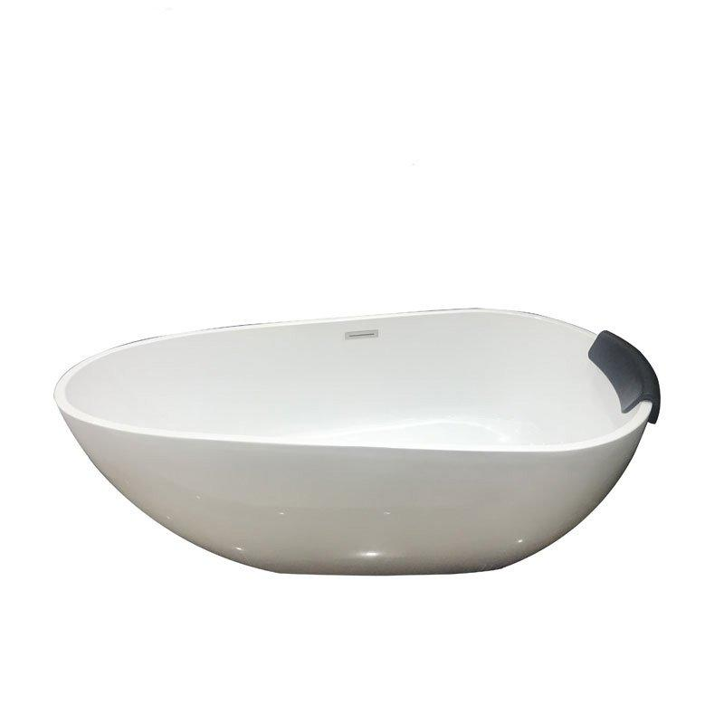 Modern Soaking Bathtub With Pillow