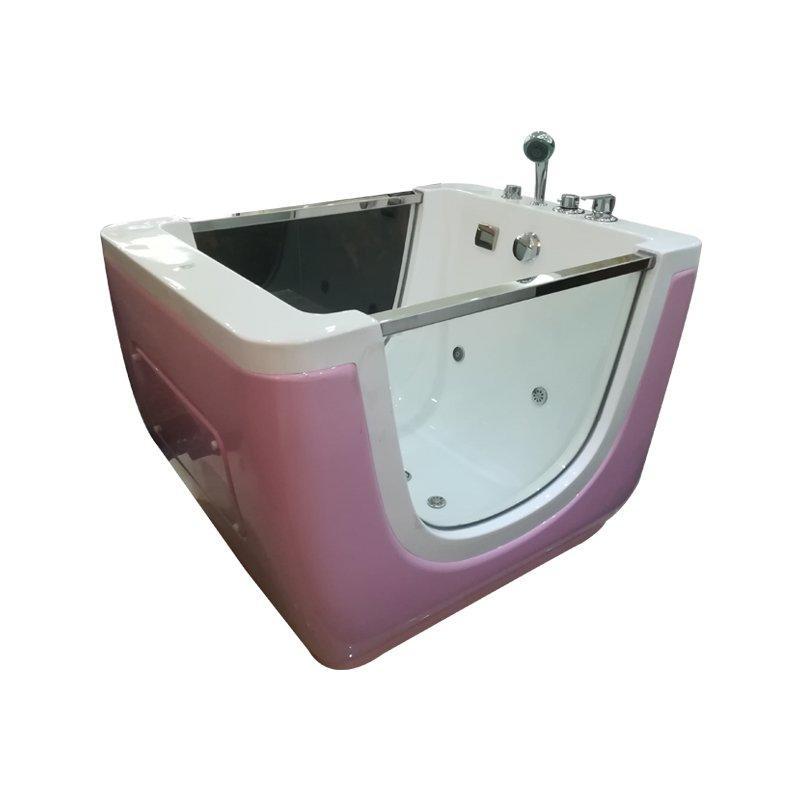 ANDI-202 Copper Faucet Shower Freestanding Kids Tub Colorful Light Air Bubble Bath Massage Bathtub for  Children Baby