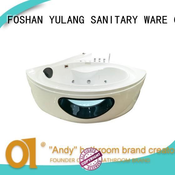 ANDI high quality triangle bathtub supplier for villa