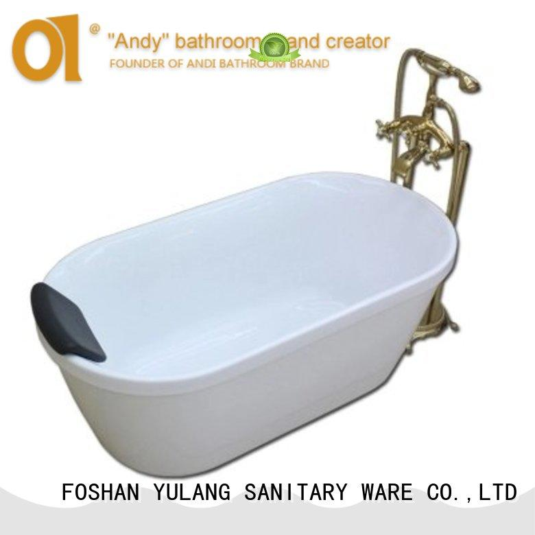 ANDI hot sell freestanding tub dimensions shower