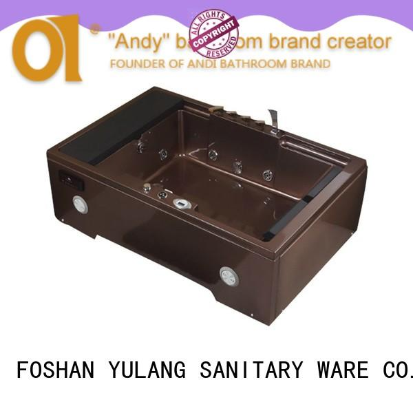 ANDI unique 2 person rectangular hot tub white for villa