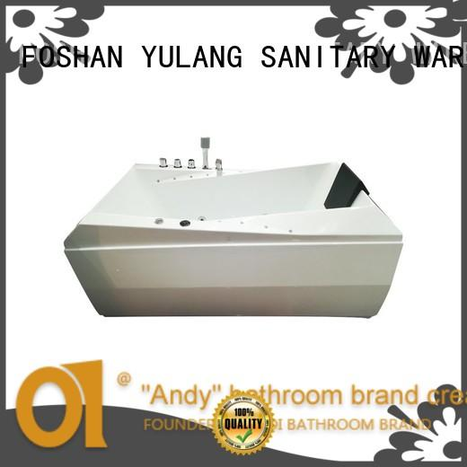 ANDI white rectangular drop in tub with TV for villa
