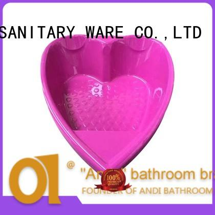 ANDI exquisite acrylic drop in tub bathtub for bathroom