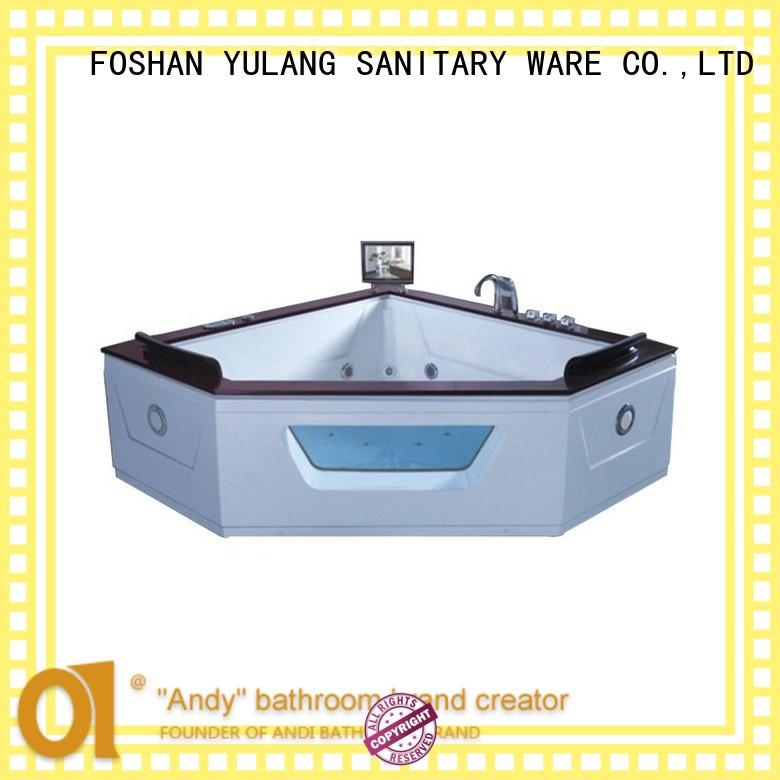 ANDI stable triangle tub supplier for apartment