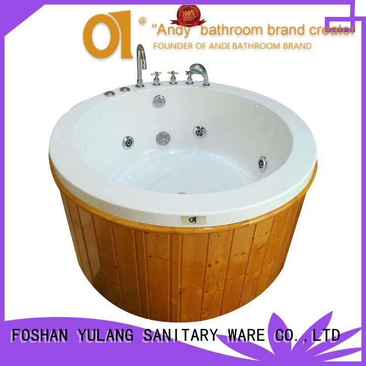 hot sell round jacuzzi bathtub massage personalized for villa