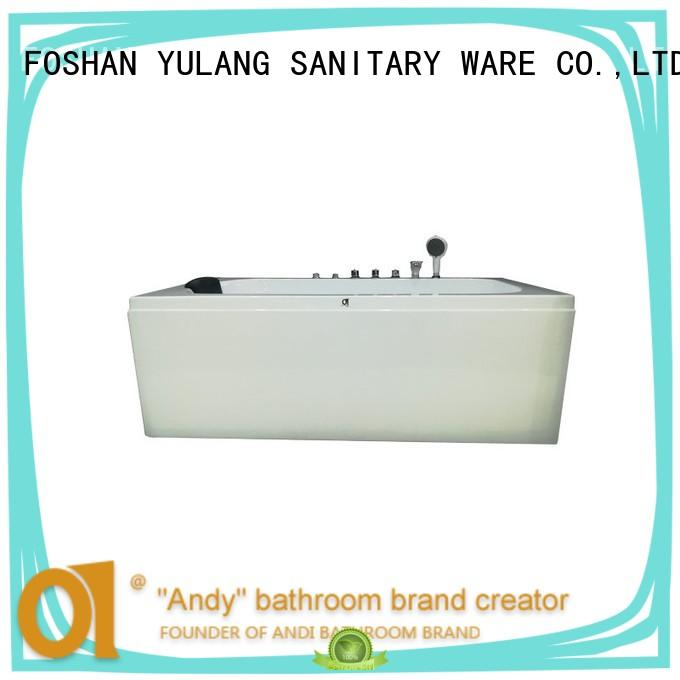 unique air bath tub bubble factory price for apartment