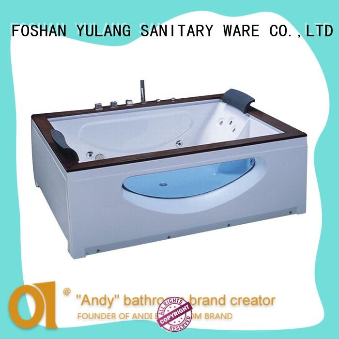 air rectangular baths with TV for hotel ANDI