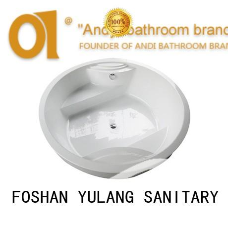 person round soaking tub acrylic for home ANDI