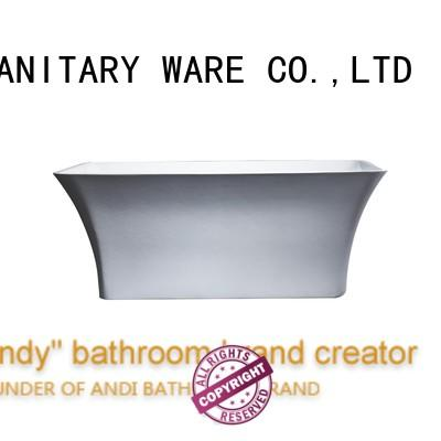 ANDI reluctant acrylic freestanding bathtub for hotel
