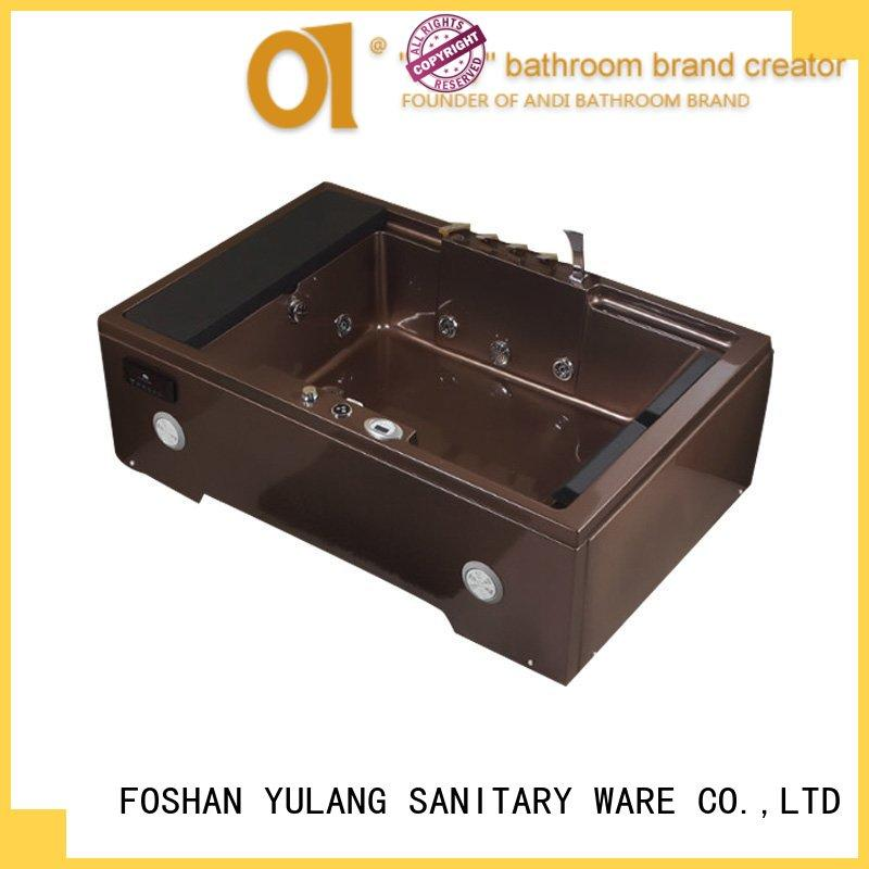 ANDI bathtubs wholesale rectangular whirlpool tub factory price for home