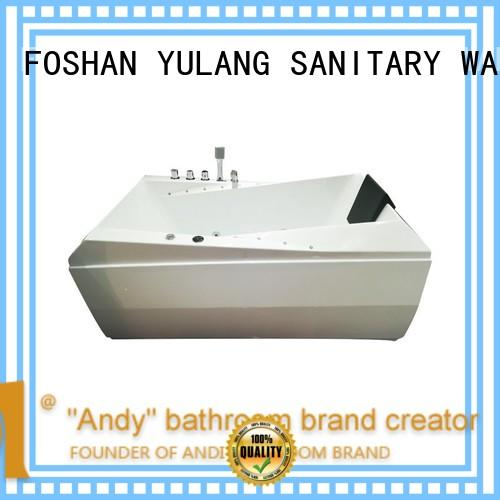acrylic rectangular jacuzzi tubs at discount for hotel ANDI