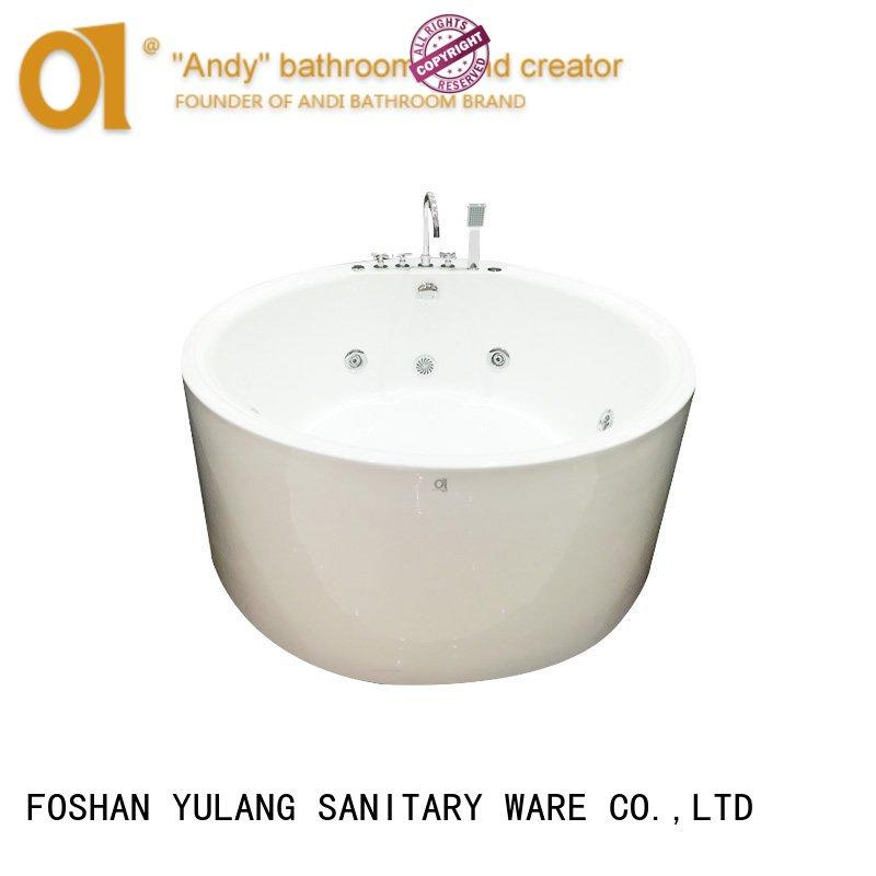 ANDI elegant small round tub price for apartment