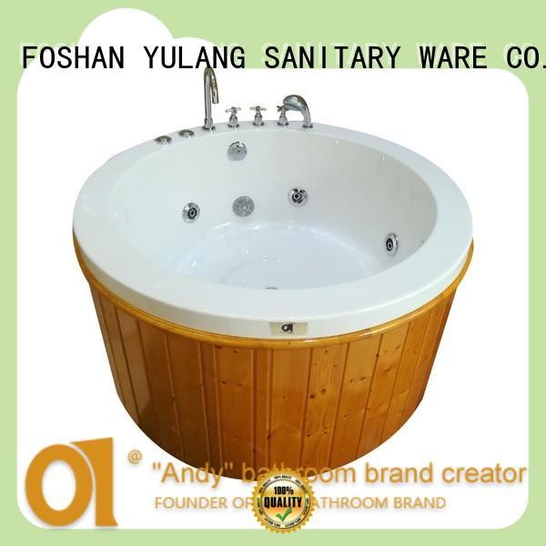 ANDI excellent round freestanding bathtub personalized for villa