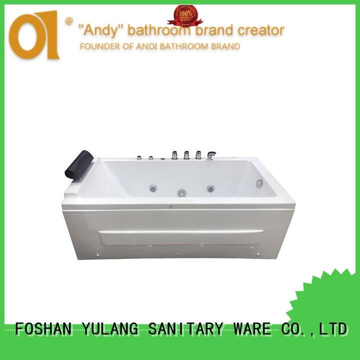 exquisiterectangle jacuzzi bathtub faucet with tub