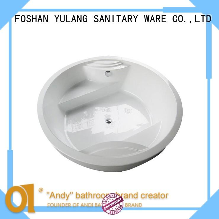 ANDI special stand alone jetted tub design for indoor