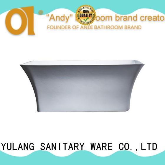 dropin acrylic freestanding tub design for hotel ANDI