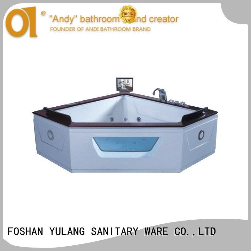 ANDI practical triangle bathtub factory price for hotel