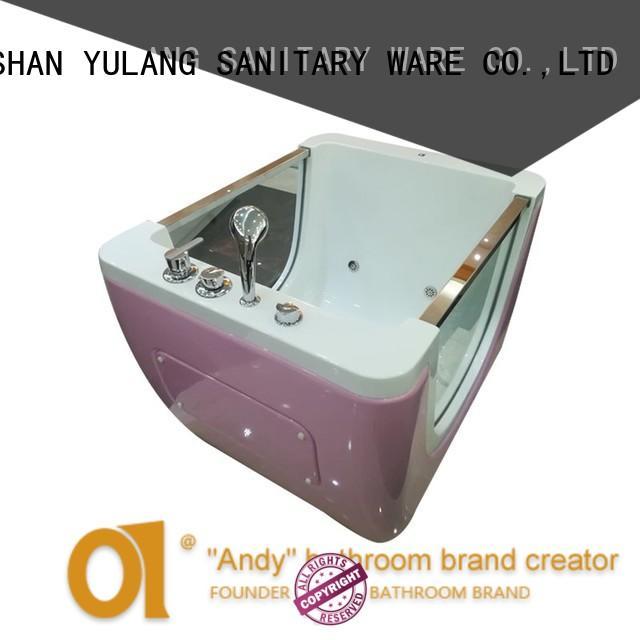 ANDI professional freestanding air tub design for indoor
