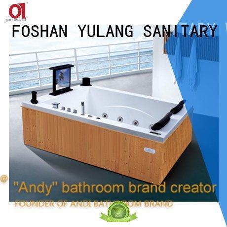ANDI fashion copper rectangular whirlpool tub