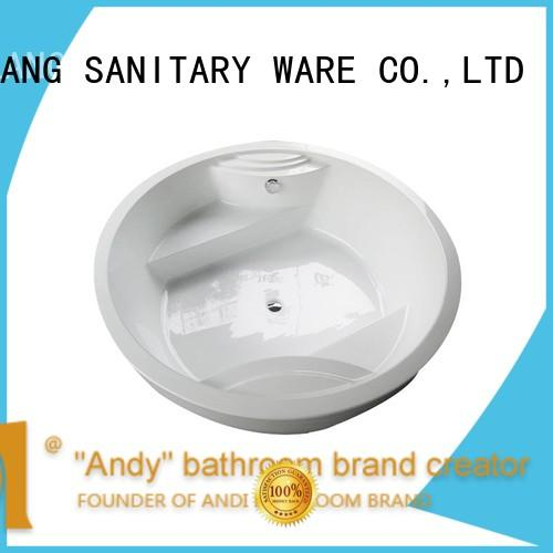 hot sell round soaking tub bathtub factory price for villa