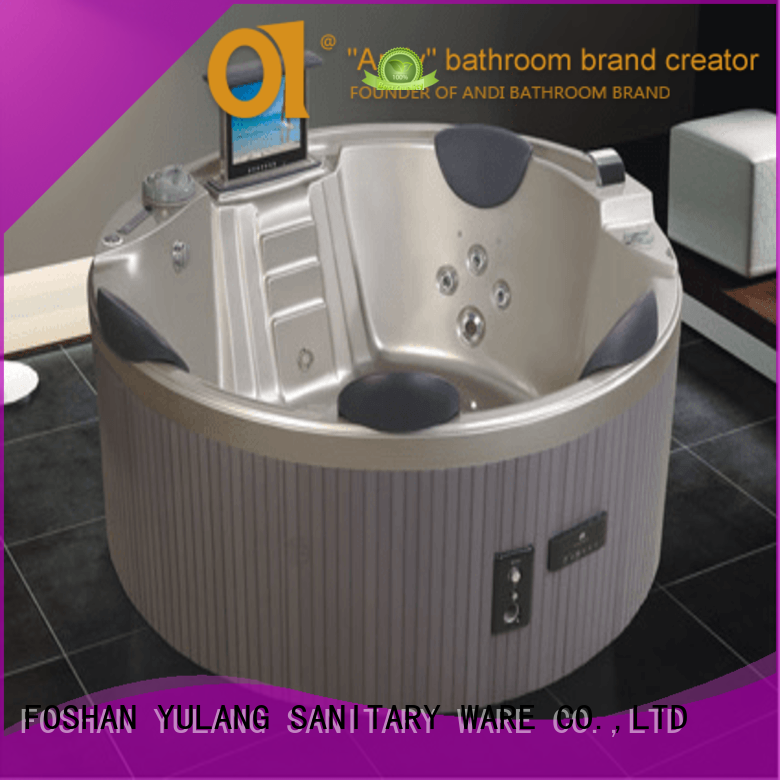 ANDI seater round hot tub factory price for hotel