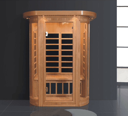 Luxurious Hemlock Far Infrared Dry Sauna Room House Cabinet for One Person