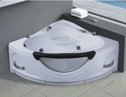 Hot tub jets set Double armrest bathtub corner whirlpool bathtub small bathtub AD-611