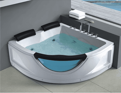 AD-637 hydrotherapy triangle triangle shaped bathtub with windows corner tub triangle bathtub