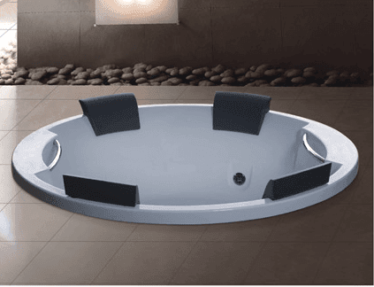 AD-819 Foshan Supplier Acrylic Drop-in hot tub 4 person cheap round bathtub