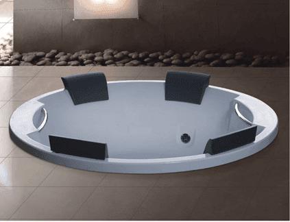 AD-819 Foshan Supplier Acrylic Drop-in hot tub 4 person cheap round bathtub