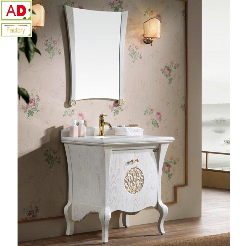 AD-8109 High Quality American Ash Wood Bathroom Cabinet with Mirror