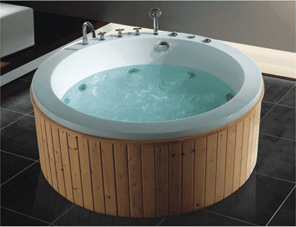 AD-706 High Gross Pearl Board Combo Massage Round Bathtub