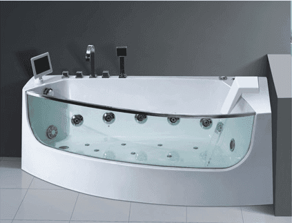 AD-623 Indoor jcuzzi bath tub with glass Acrylic Water Hydro Massage Bathtubs
