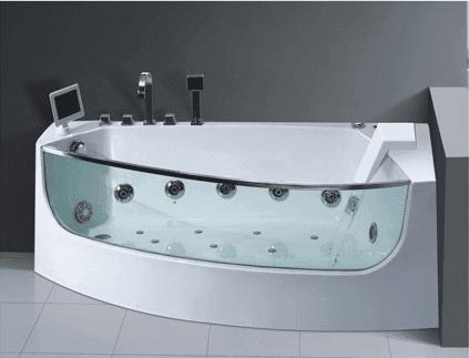AD-623 Indoor jcuzzi bath tub with glass Acrylic Water Hydro Massage Bathtubs