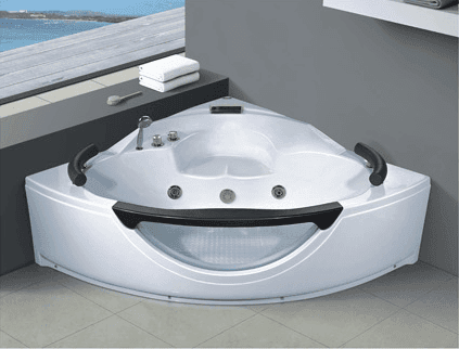 AD-652 Acrylic Massage Triangle Shaped Whirlpool Bathtub