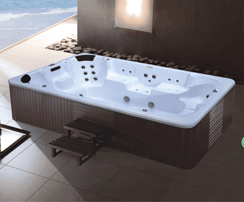 AD-801 Large Size Swim Pool Wood Freestanding Massage Jakuzi Outdoor Spa Bathtub whirlpool