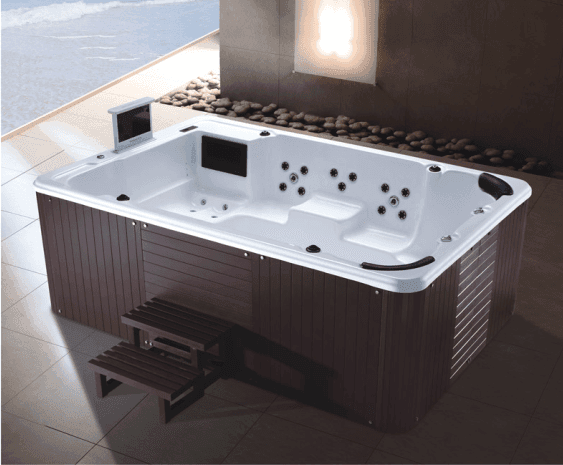 AD-801 Large Size Swim Pool Wood Freestanding Massage Jakuzi Outdoor Spa Bathtub whirlpool