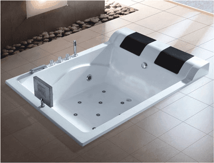 Cheap price 2 person double hydromassage tube drop-in hot tub bathtub with heater AD-814